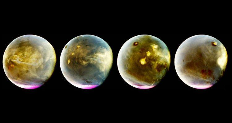 nasa maven mars nouvelles images nuages