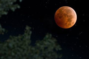 super lune chasseur sang rouge orange