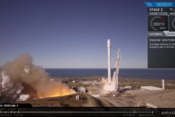 Falcon 9 de SpaceX lancement récupération dix satellites iridim orbite
