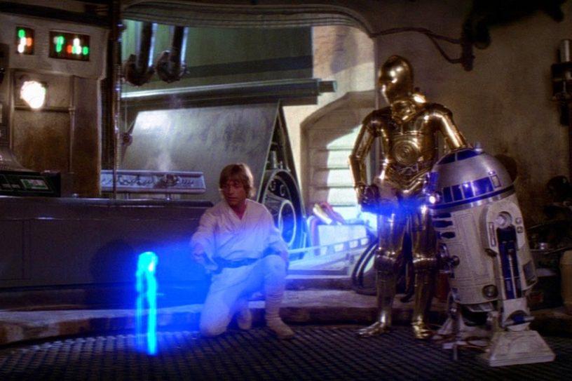 star wars épisode IV new hope hologramme