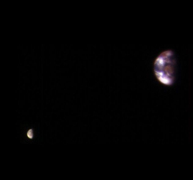 terre lune depuis mars titre nasa