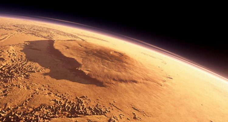 Mars olympus mons planète rouge volcan