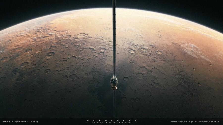 ascenceur sur mars