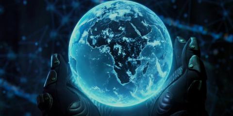 hologramme terre prometheus