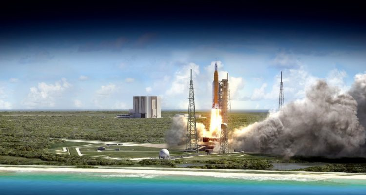 space launch system sls nasa lune mars astronautes