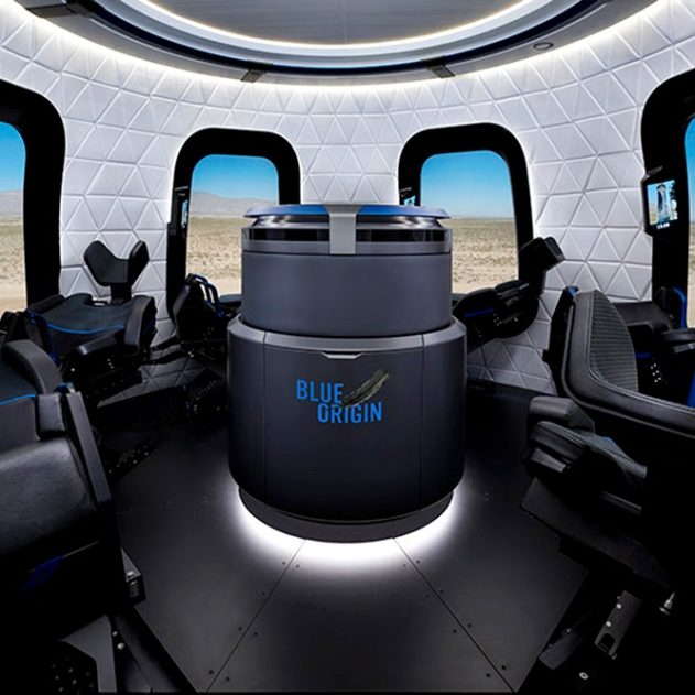 Blue Origin capsule new shepard fusée