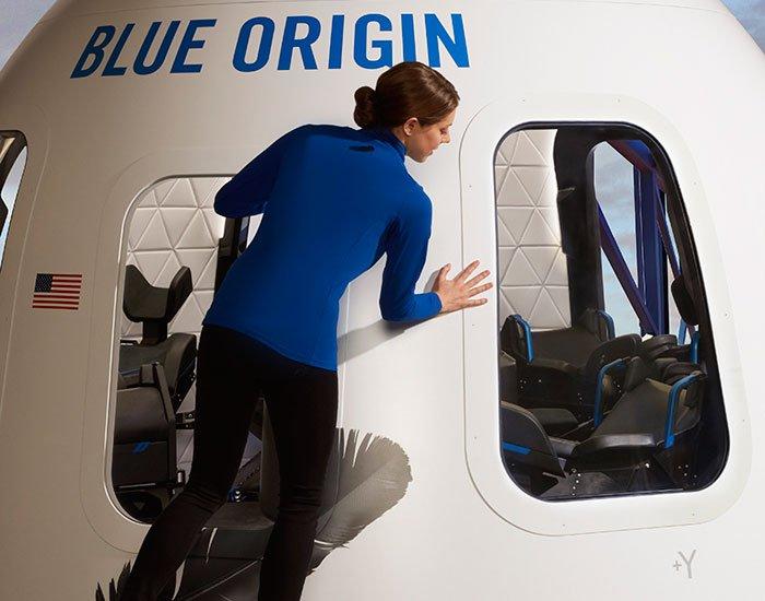 Blue Origin nouvelle capsule new shepard intérieur