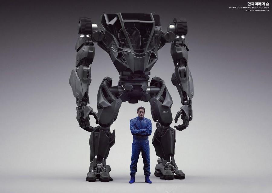 Hankook Mirai Technology Future Designs robot bipede geant lourd technologie robotique