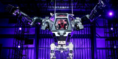 Hankook Mirai Technology robot bipede geant lourd technologie robotique