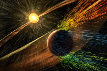 atmosphère magnétosphère terrestre mars soleil espace bouclier rayons rayonnement cosmique