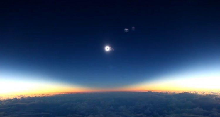 eclipse solaire totale depuis 30km altitude