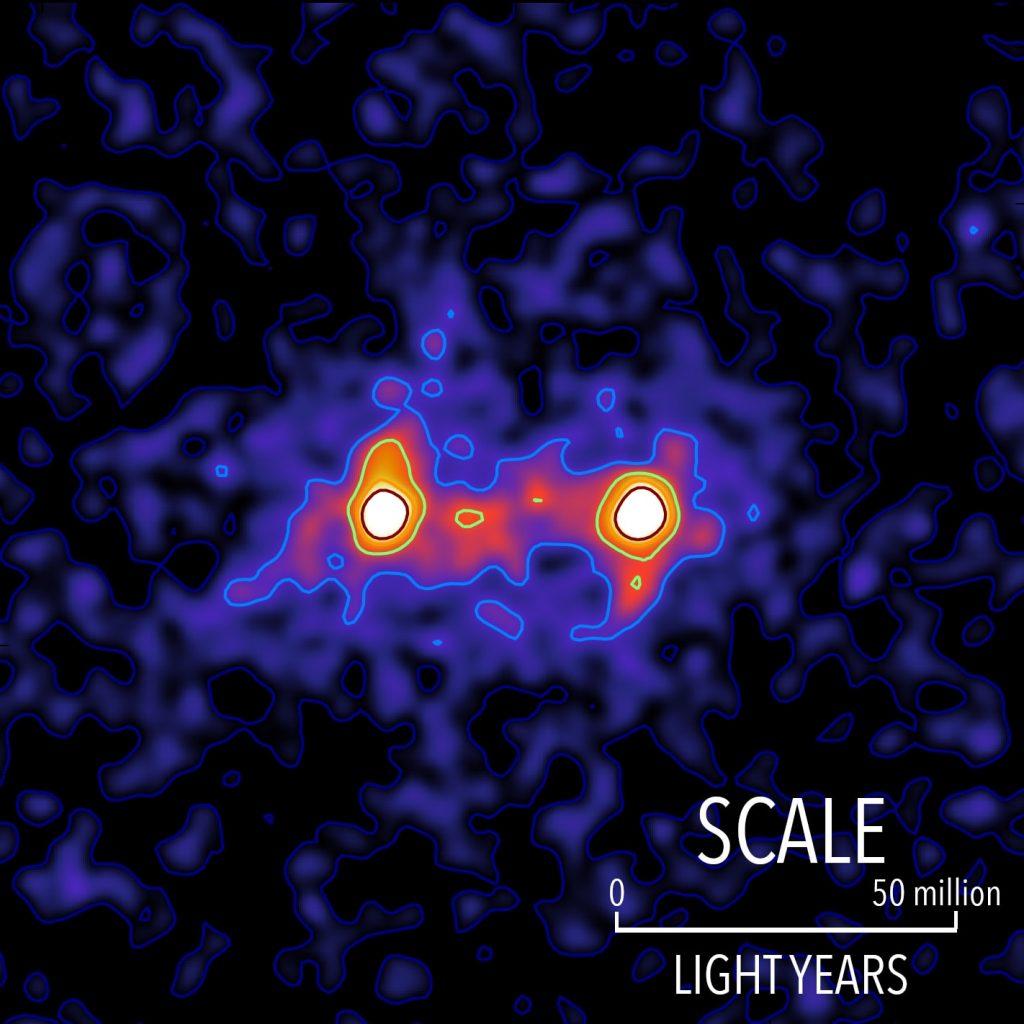filaments de matière noire galaxie