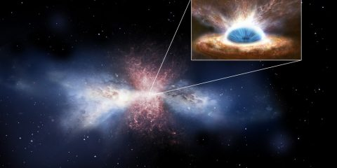 trou noir vents matière jet galaxie étoiles