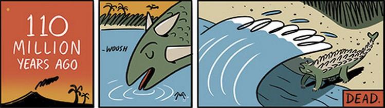 mort dinosaure fossile
