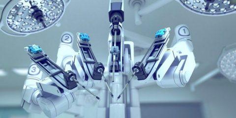 robot chirurgie medecine operation cerveau découpe foreuse