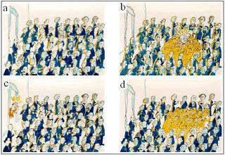 foule champ de higgs analogie