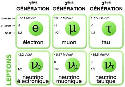 leptons generations organisation