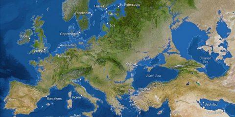 fonte glace europe terre modification