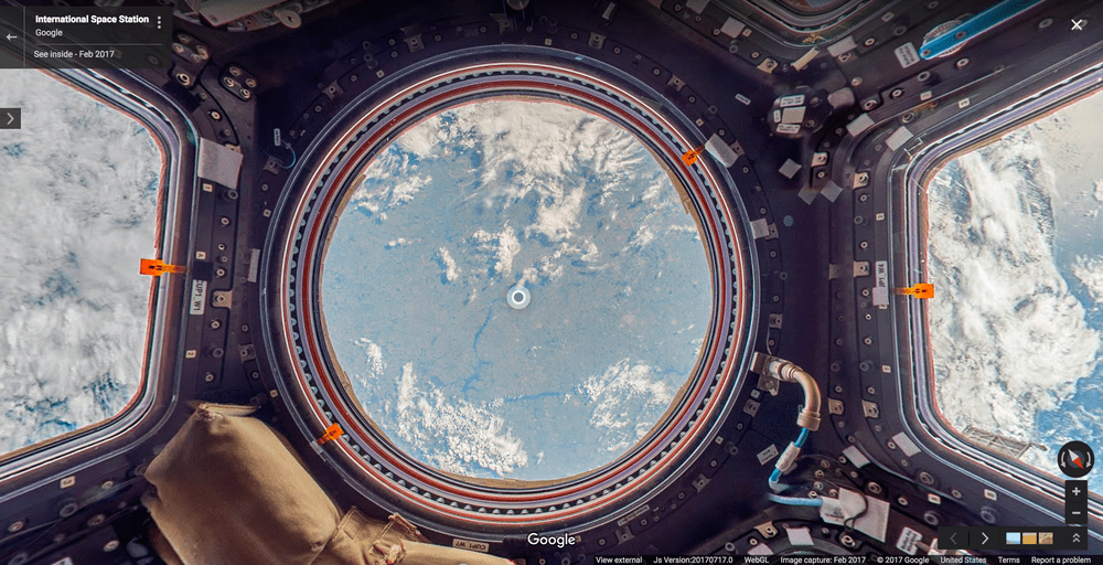 observer google street view station spatiale internationale ISS thomas pesquet