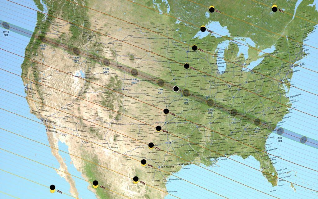 eclipse solaire totale 2017 etats unis nasa diffusion direct