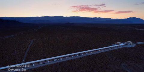 hyperloop one elon musk sustantation magnétique