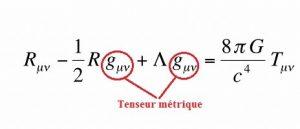 equation relativite generale
