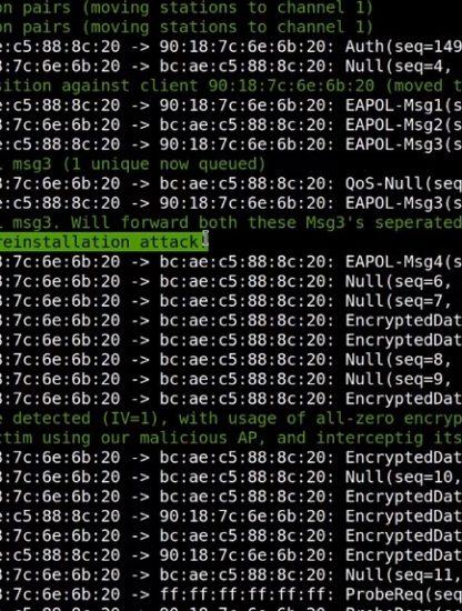 cybersecurite wifi attaque vulnerabilite faille internet protocole krack piratage