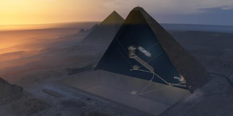 grande pyramide khéops gizeh découverte chambre air vide