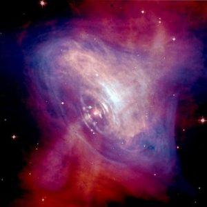 pulsar crabe image composite