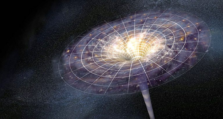 espace temps singularite trou noir