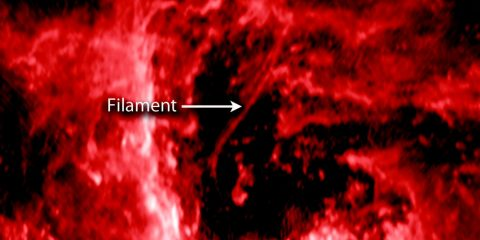 filament trou noir supermassif centre galaxie voie lactée