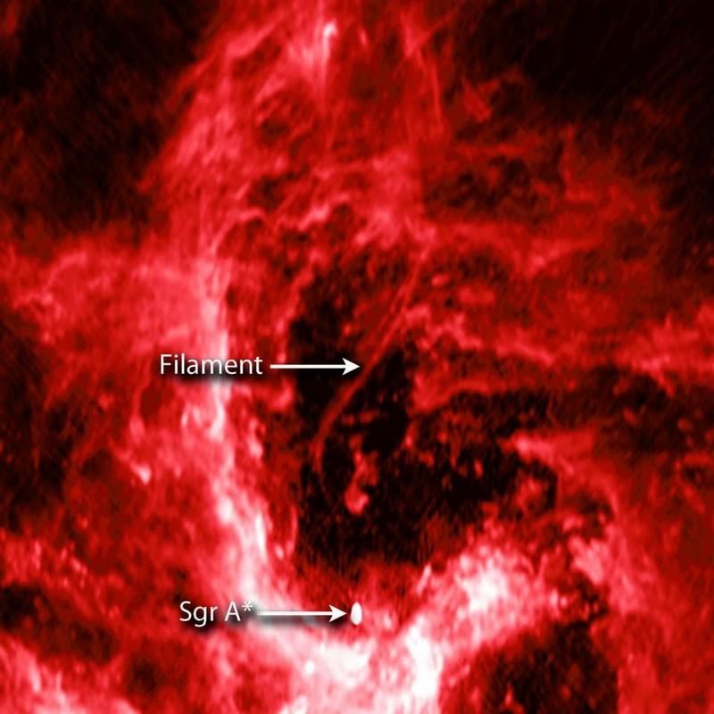 trou noir supermassif filament centre galaxie
