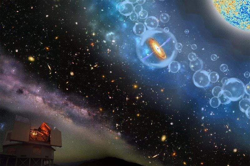 trou noir supermassif quasar lumière 800 masses solaires
