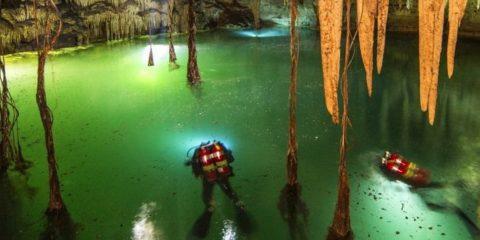 sac actun mexique cave caverne grotte submergee innondee eau sous-marine