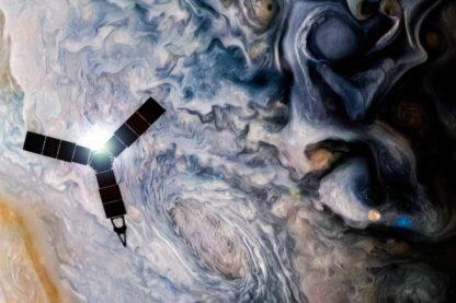 sonde vaisseau spatial nasa juno jupiter nuages gaz