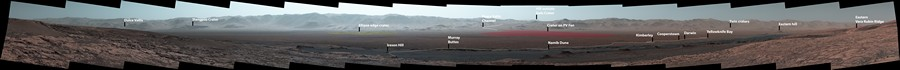 nasa rover curiosity mars panorama