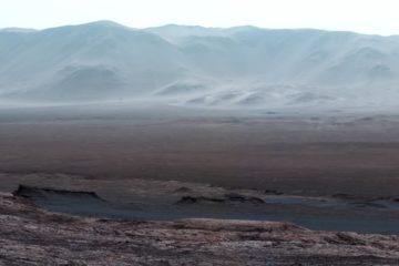 cratère nasa détail chemin rover exploration curiosity mars martien