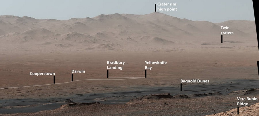 cratere nasa rover curiosity mars