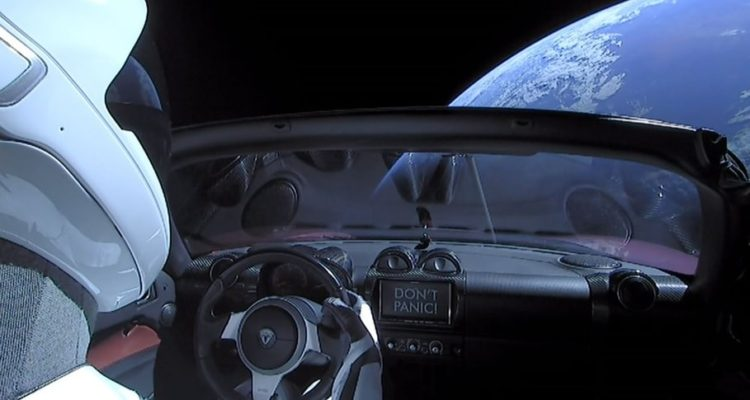 spacex tesla roadster arch