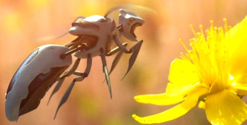 abeilles pollinisateurs pollen plantes robots robotisées walmart drones