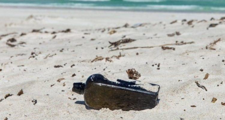 bouteille message sable