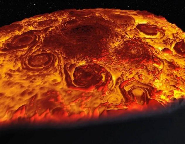 cyclones infrarouges jupiter