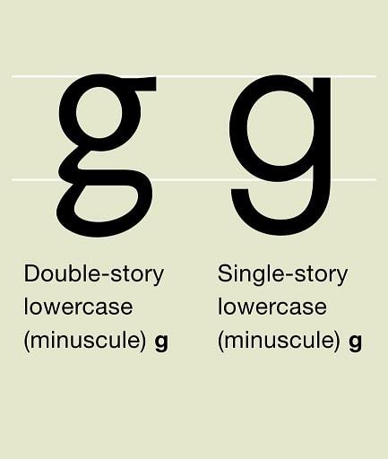 typographie g