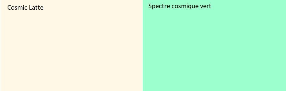 couleurs univers