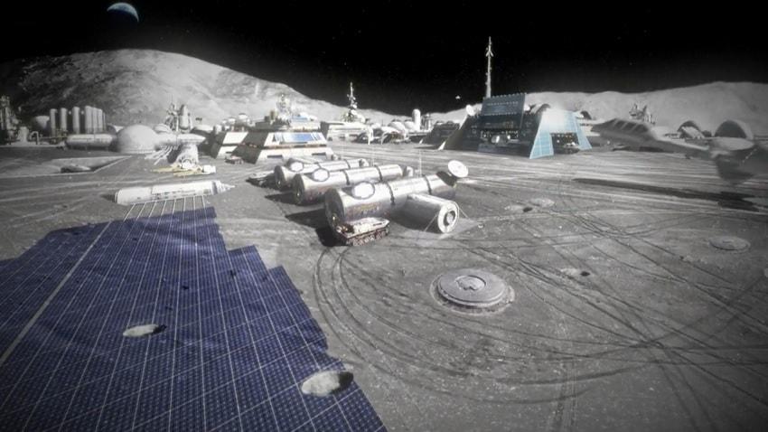 base lunaire exploration spatiale