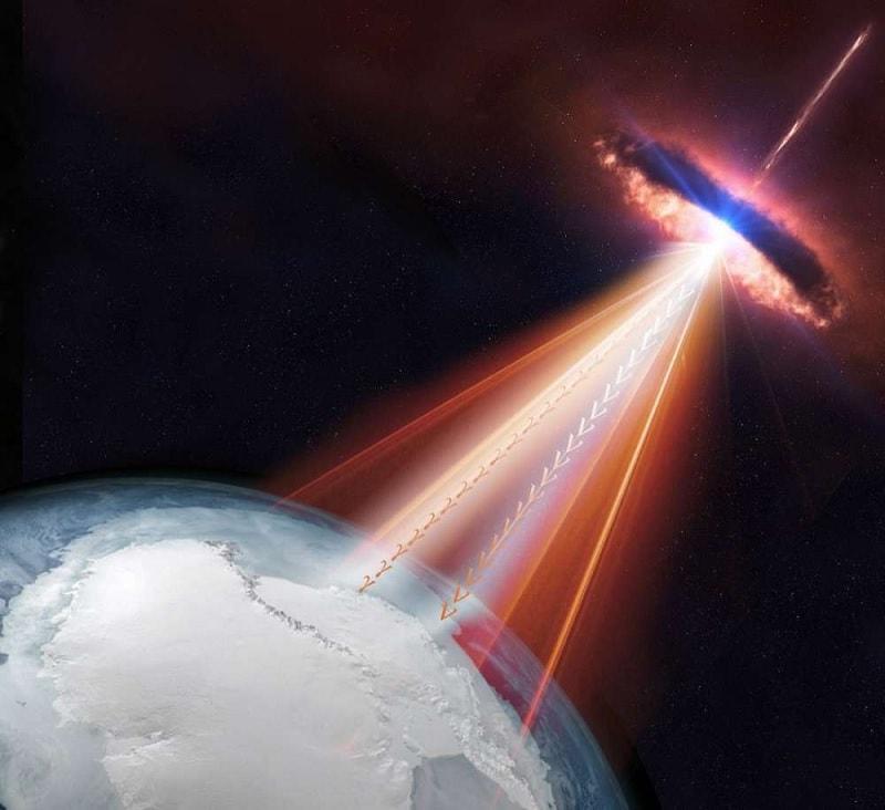 blazar rayons cosmiques neutrinos