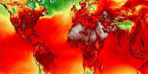 carte monde chaleur temperature