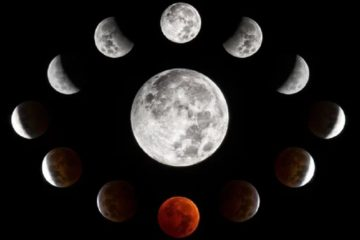 eclipse lunaire lune rousse