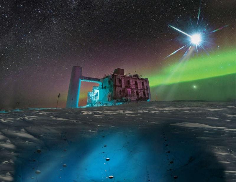Icecube detecteur neutrinos blazar