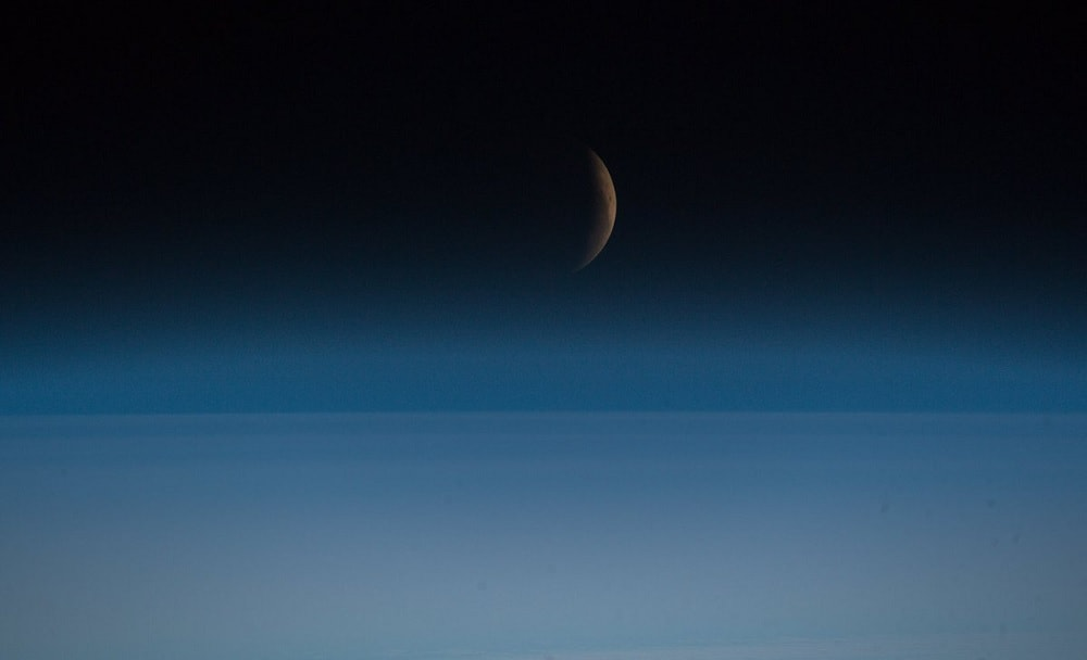 eclipse lunaire lune iss